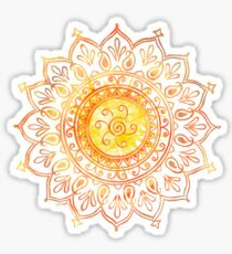 Decorative Indian Sun  Sticker