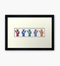 Retro Robot Parade Framed Print