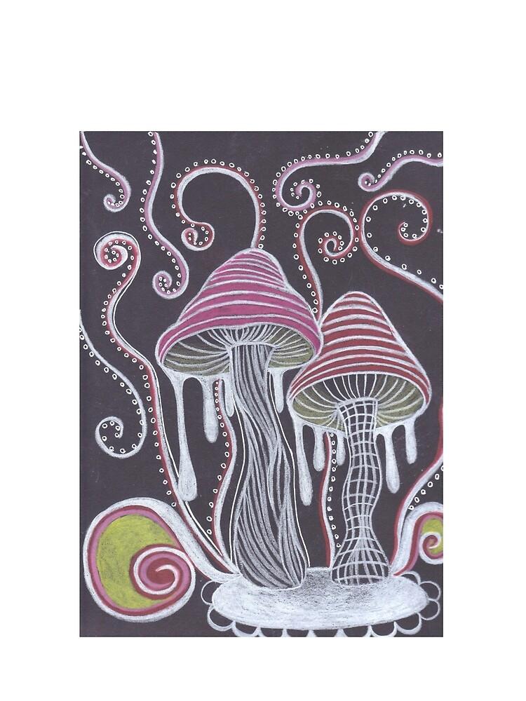 Trippy Mushroom by ArtbyMeganBrock