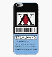 Vinilo o funda para iPhone HXH HunterxHunter License