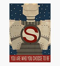 Iron Giant Star Poster Photographic Print