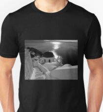 Stairway to Blue Domed Church ~ Black & White Unisex T-Shirt