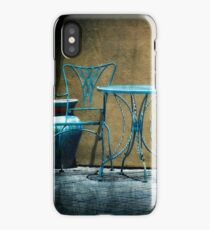 Table & Chairs in Blue iPhone Case/Skin