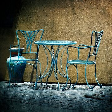 Table & Chairs in Blue by GVAZDesigns