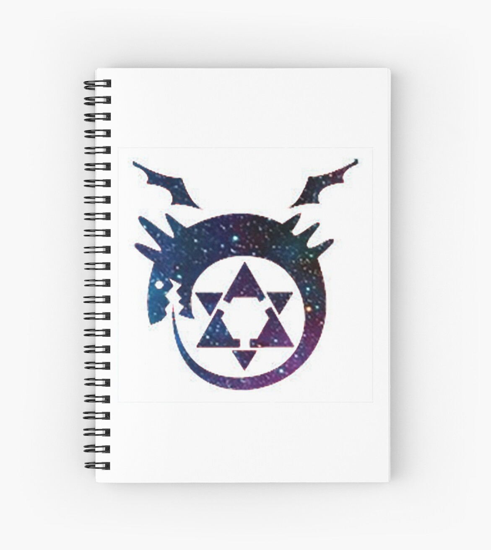 Fullmetal Alchimiste Ouroboros Tatouage Galaxie Cahiers A Spirale