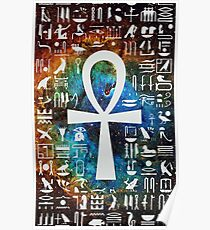 Egyptian Cross Galaxy Poster