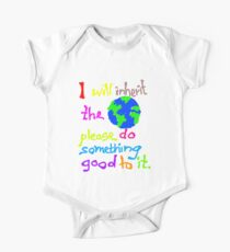 I will inherit the Earth please do something good to it One Piece - Short Sleeve