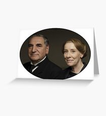 """Mr Carson e Mrs Hughes"" Downton Abbey Greeting Card"