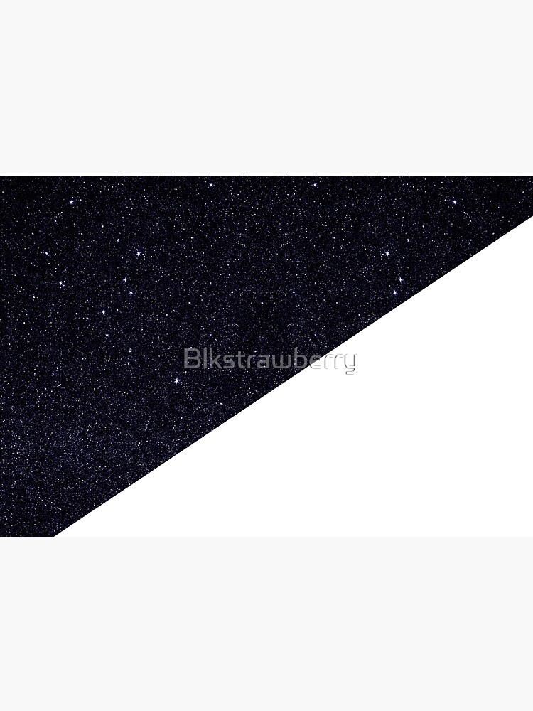Modern Half Cut Starry Night and White by Blkstrawberry