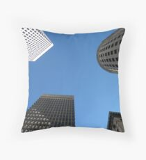 Downtown Providence by Leebabe Throw Pillow