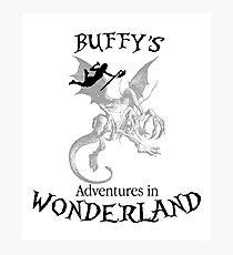 Buffy's  Adventures in Wonderland Photographic Print