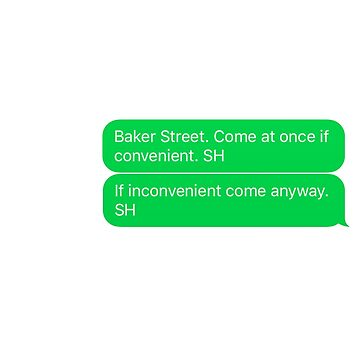 Texts from Baker Street by kinnycatherine