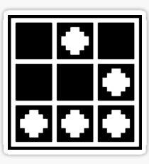 Glider - Pixelated, Black Sticker