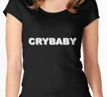 Crybaby (White) Women's Fitted Scoop T-Shirt