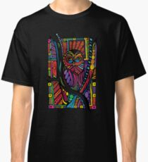 Psychedelic Color Owl on Patterns Classic T-Shirt