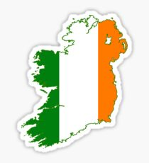 Ireland Flag Design Sticker