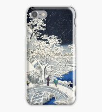 Utagawa Hiroshige Meguro Drum Bridge and Sunset Hill iPhone Case/Skin