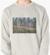Pine trees in the marsh Pullover Sweatshirt