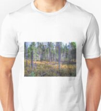 Pine trees in the marsh Slim Fit T-Shirt