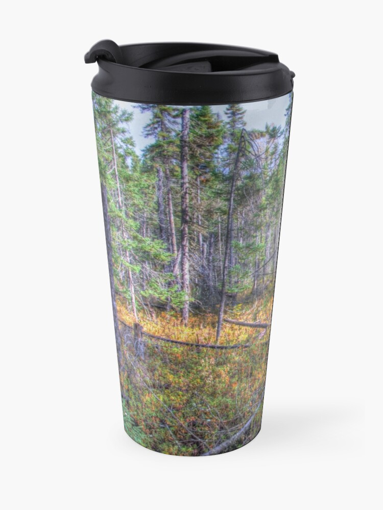 Alternate view of Pine trees in the marsh Travel Mug