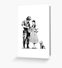 Banksy- Police Searching Dorthy Greeting Card