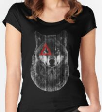 Wolf. Women's Fitted Scoop T-Shirt