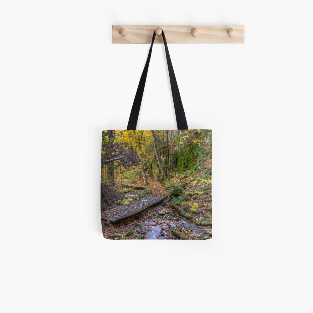 Forest walkway Tote Bag