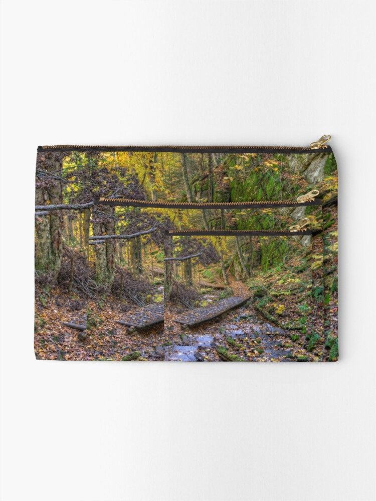 Alternate view of Forest walkway Zipper Pouch
