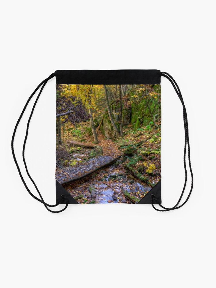 Alternate view of Forest walkway Drawstring Bag
