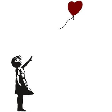 Banksy- Girl with Heart balloon.  by Memegode