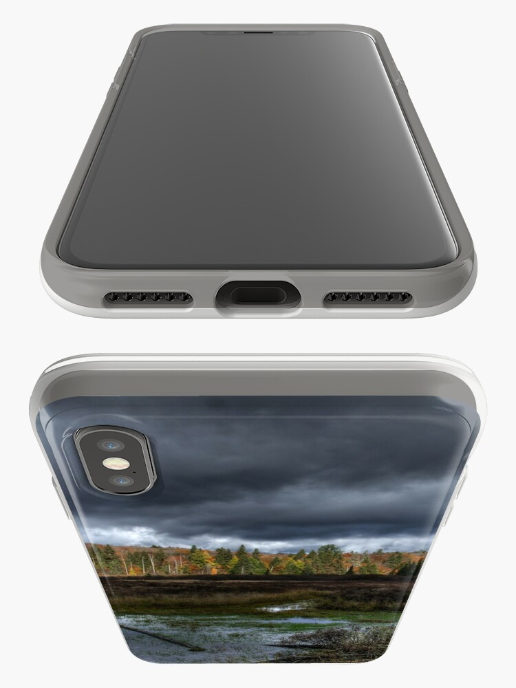 Alternate view of Stormy marsh iPhone Case & Cover
