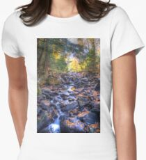 Rocky riverbed Fitted T-Shirt