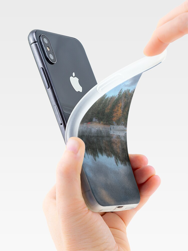Alternate view of Reflected trees and sky iPhone Case & Cover