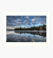 Reflected trees and sky Art Print