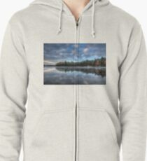 Reflected trees and sky Zipped Hoodie