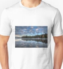 Reflected trees and sky Slim Fit T-Shirt