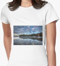 Reflected trees and sky Fitted T-Shirt