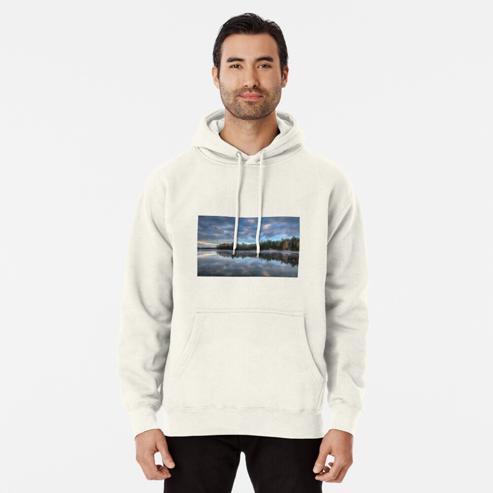 Reflected trees and sky Pullover Hoodie