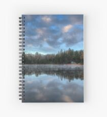 Reflected trees and sky Spiral Notebook