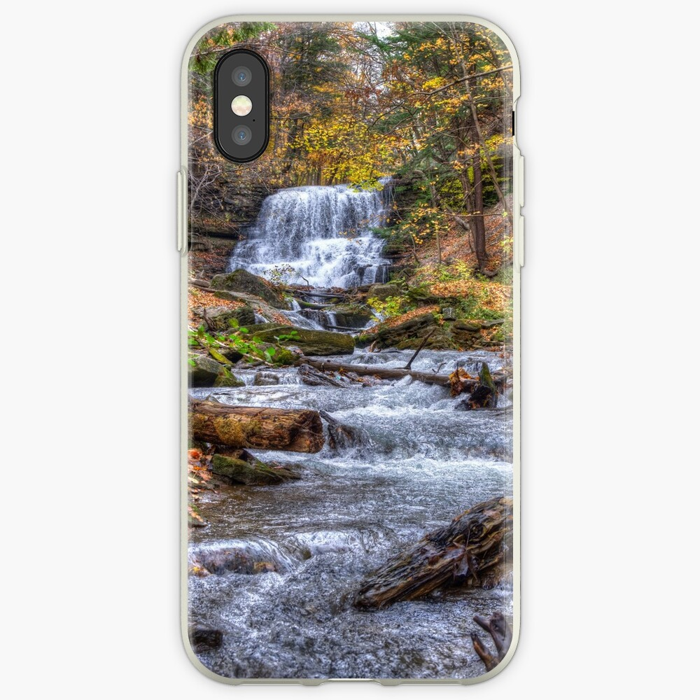 Forest waterfall iPhone Case & Cover