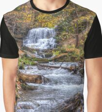 Forest waterfall Graphic T-Shirt