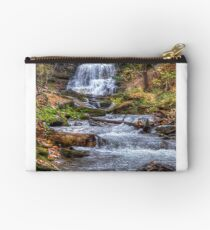 Forest waterfall Zipper Pouch