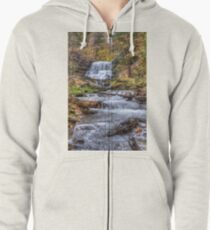 Forest waterfall Zipped Hoodie