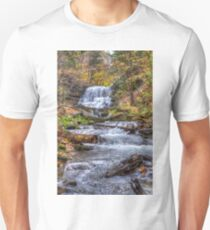 Forest waterfall Slim Fit T-Shirt