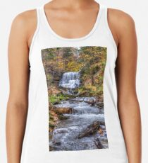 Forest waterfall Racerback Tank Top