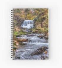 Forest waterfall Spiral Notebook
