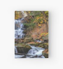 Forest waterfall Hardcover Journal