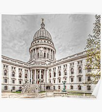 Wisconsin State Capitol Building Poster