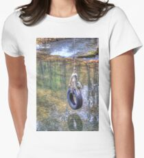 Tire swing Fitted T-Shirt