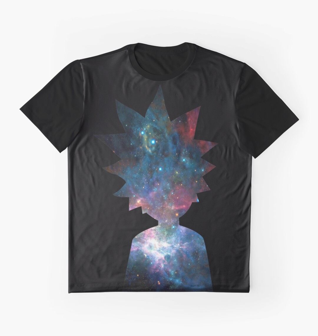 Design t shirt galaxy - Rick And Morty Galaxy Design Graphic T Shirts